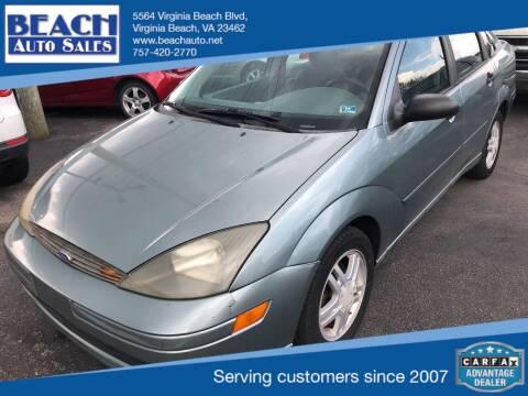 2003 Ford Focus for sale at Beach Auto Sales in Virginia Beach VA