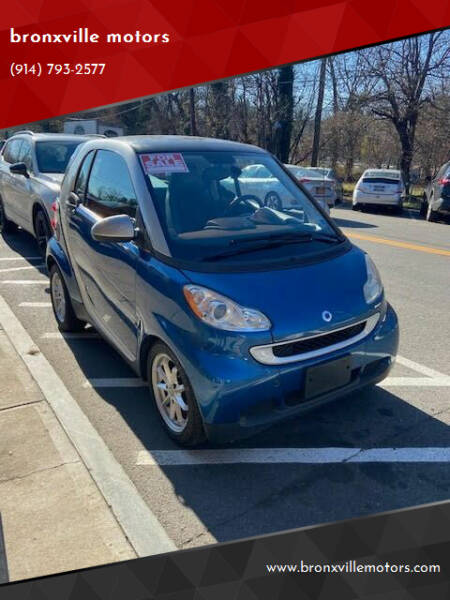 2008 Smart fortwo for sale at bronxville motors in Bronxville NY