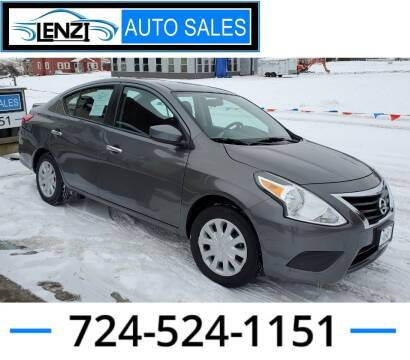 2019 Nissan Versa for sale at LENZI AUTO SALES in Sarver PA