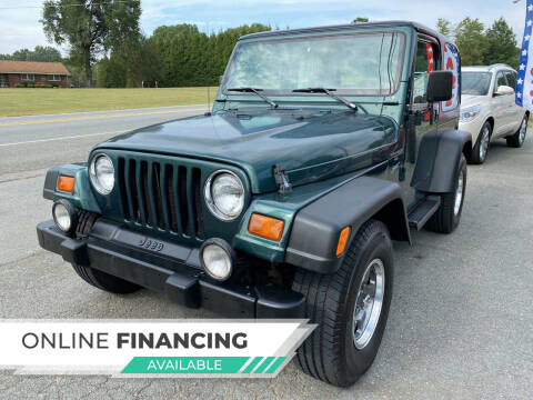 1999 Jeep Wrangler for sale at Auto Store of NC in Walkertown NC