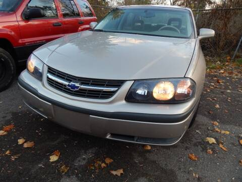2001 Chevrolet Impala for sale at PARAGON AUTO SALES in Portage MI