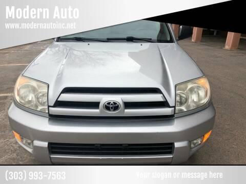 2004 Toyota 4Runner for sale at Modern Auto in Denver CO