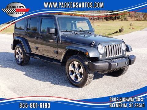 2016 Jeep Wrangler Unlimited for sale at Parker's Used Cars in Blenheim SC