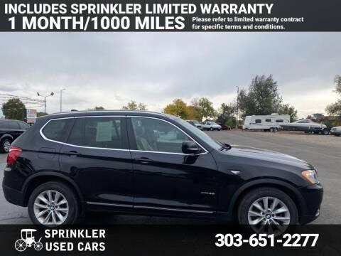 2012 BMW X3 for sale at Sprinkler Used Cars in Longmont CO
