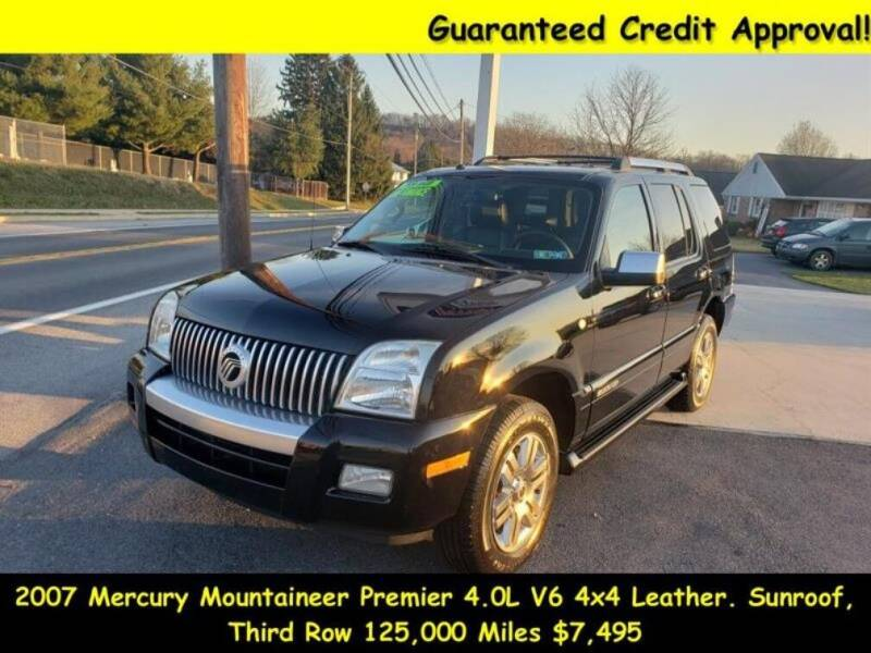 2007 Mercury Mountaineer for sale at Fortnas Used Cars in Jonestown PA