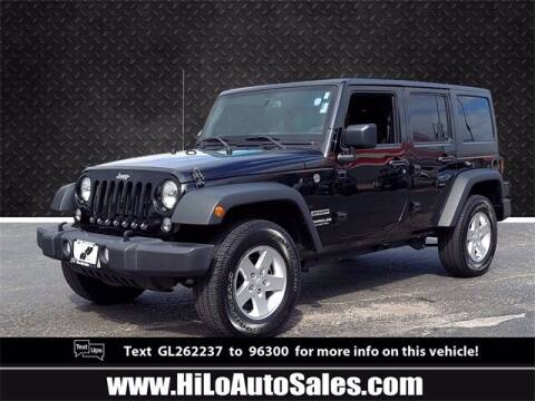 2016 Jeep Wrangler Unlimited for sale at Hi-Lo Auto Sales in Frederick MD