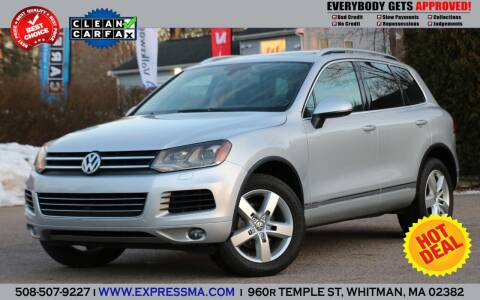 2013 Volkswagen Touareg for sale at Auto Sales Express in Whitman MA