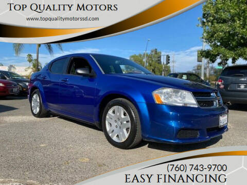2014 Dodge Avenger for sale at Top Quality Motors in Escondido CA