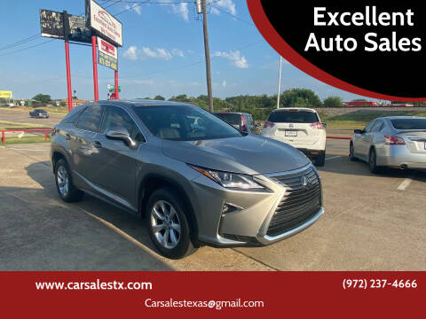 2017 Lexus RX 350 for sale at Excellent Auto Sales in Grand Prairie TX
