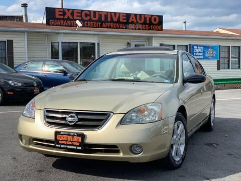 2003 Nissan Altima for sale at Executive Auto in Winchester VA