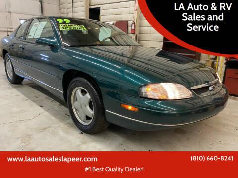 1999 Chevrolet Monte Carlo for sale at LA Auto & RV Sales and Service in Lapeer MI