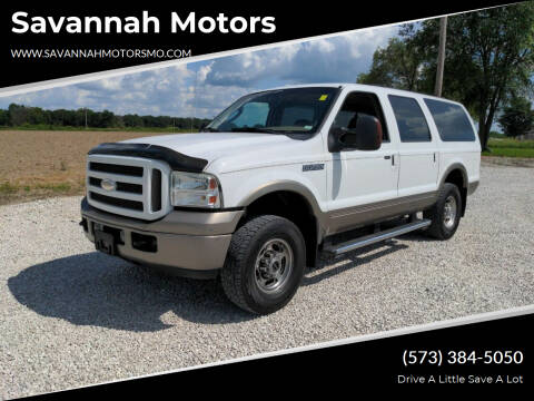 2005 Ford Excursion for sale at Savannah Motors in Elsberry MO