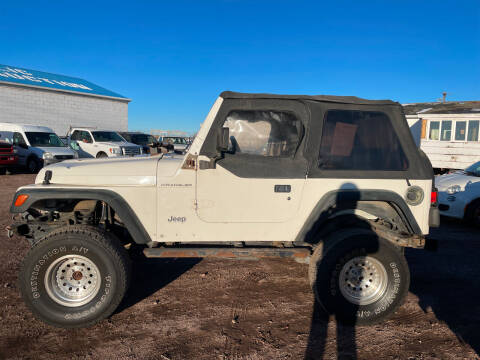 1998 Jeep Wrangler for sale at PYRAMID MOTORS - Fountain Lot in Fountain CO