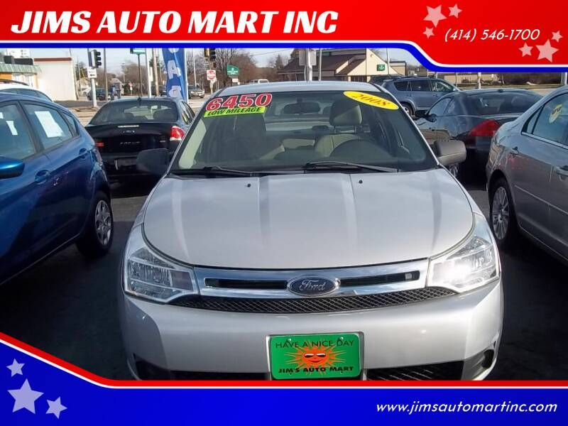 2008 Ford Focus for sale at JIMS AUTO MART INC in Milwaukee WI