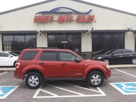 2008 Ford Escape for sale at DOUG'S AUTO SALES INC in Pleasant View TN