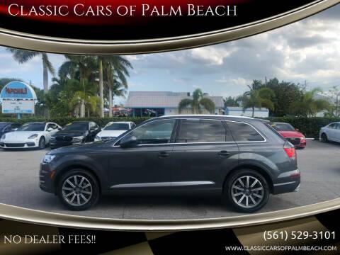 2018 Audi Q7 for sale at Classic Cars of Palm Beach in Jupiter FL