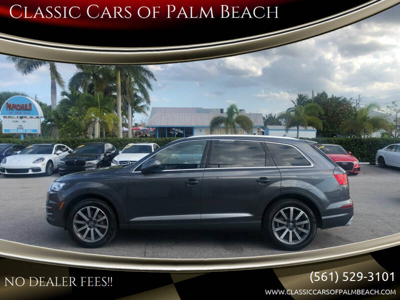 2018 Audi Q7 for sale at Classic Cars of Palm Beach in Jupiter FL