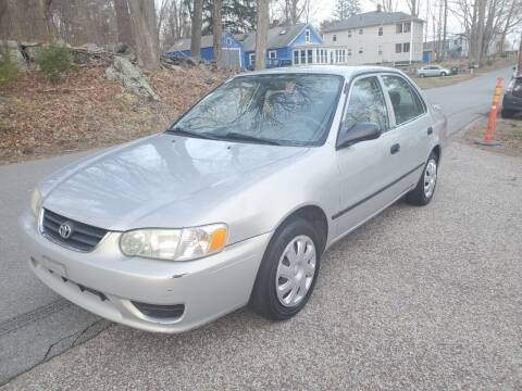 2001 Toyota Corolla for sale at STURBRIDGE CAR SERVICE CO in Sturbridge MA