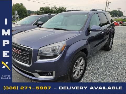 2014 GMC Acadia for sale at Impex Auto Sales in Greensboro NC