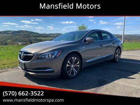 2017 Buick LaCrosse for sale at Mansfield Motors in Mansfield PA
