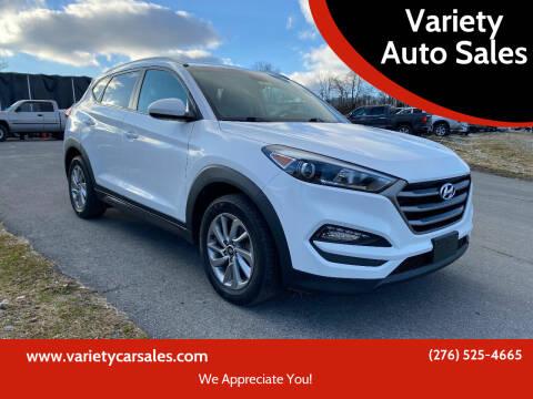 2016 Hyundai Tucson for sale at Variety Auto Sales in Abingdon VA