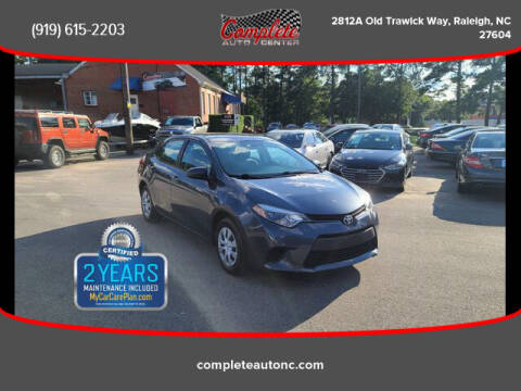 2016 Toyota Corolla for sale at Complete Auto Center , Inc in Raleigh NC