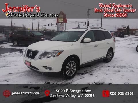 2015 Nissan Pathfinder for sale at Jennifer's Auto Sales in Spokane Valley WA
