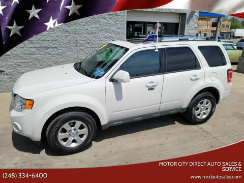 2011 Ford Escape for sale at Motor City Direct Auto Sales & Service in Pontiac MI