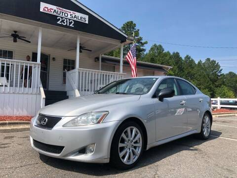 2008 Lexus IS 250 for sale at CVC AUTO SALES in Durham NC