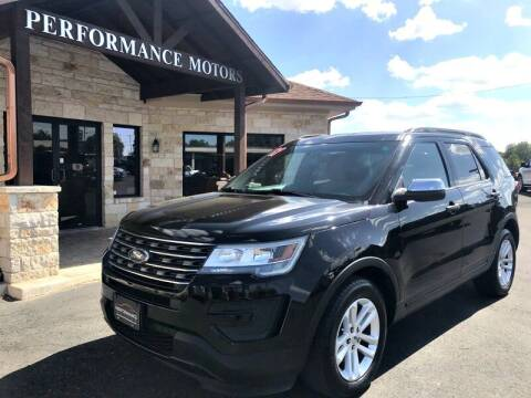 2017 Ford Explorer for sale at Performance Motors Killeen Second Chance in Killeen TX