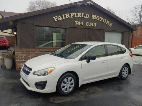 2013 Subaru Impreza for sale at Fairfield Motors in Fort Wayne IN