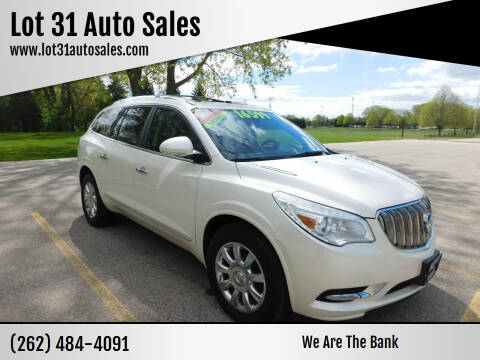 2014 Buick Enclave for sale at Lot 31 Auto Sales in Kenosha WI