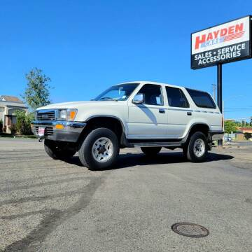 1991 Toyota 4Runner for sale at Hayden Cars in Coeur D Alene ID