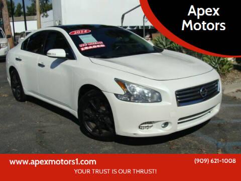 2014 Nissan Maxima for sale at Apex Motors in Montclair CA