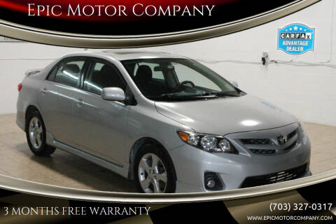 2011 Toyota Corolla for sale at Epic Motor Company in Chantilly VA