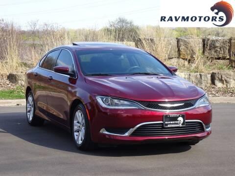 2016 Chrysler 200 for sale at RAVMOTORS in Burnsville MN