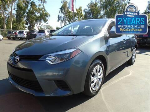 2016 Toyota Corolla for sale at Centre City Motors in Escondido CA