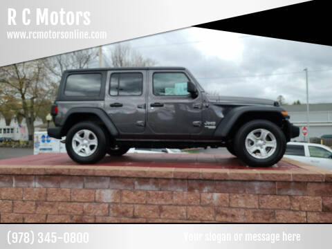2018 Jeep Wrangler Unlimited for sale at R C Motors in Lunenburg MA