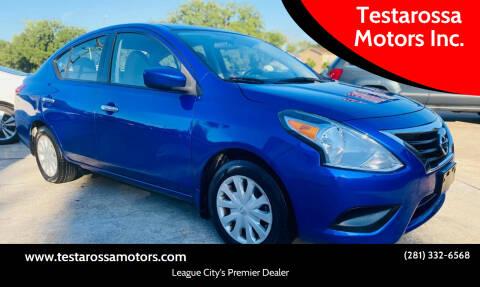2016 Nissan Versa for sale at Testarossa Motors Inc. in League City TX