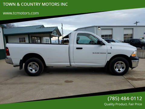 2012 RAM Ram Pickup 1500 for sale at TOWN & COUNTRY MOTORS INC in Meriden KS