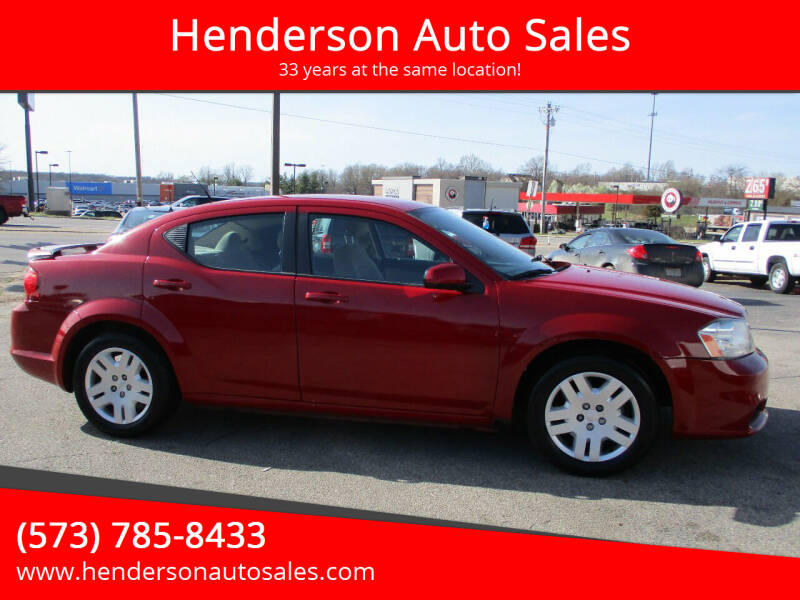 2013 Dodge Avenger for sale at Henderson Auto Sales in Poplar Bluff MO