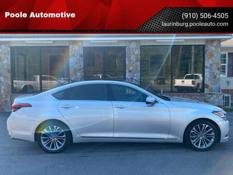 2015 Hyundai Genesis for sale at Poole Automotive in Laurinburg NC