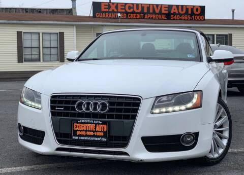2010 Audi A5 for sale at Executive Auto in Winchester VA