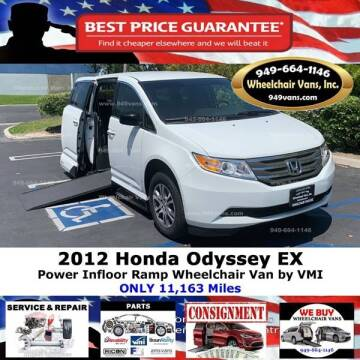 2012 Honda Odyssey for sale at Wheelchair Vans Inc - New and Used in Laguna Hills CA