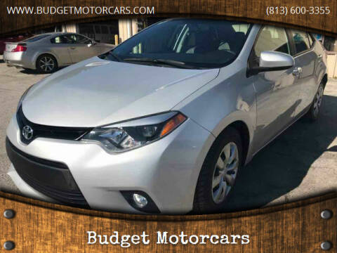 2014 Toyota Corolla for sale at Budget Motorcars in Tampa FL