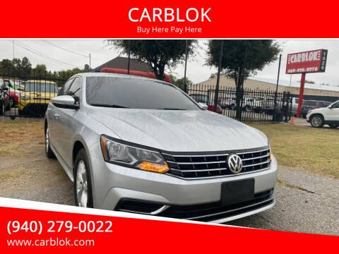 2017 Volkswagen Passat for sale at CARBLOK in Lewisville TX