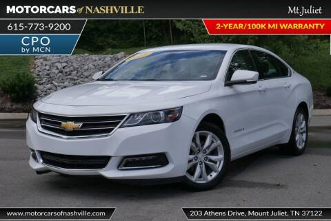 2019 Chevrolet Impala for sale at MotorCars of Nashville in Mount Juliet TN