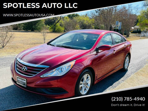 2014 Hyundai Sonata for sale at SPOTLESS AUTO LLC in San Antonio TX