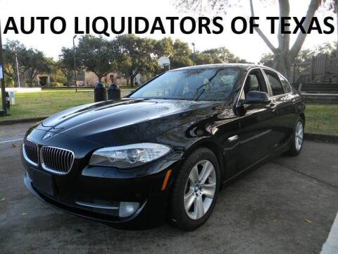 2013 BMW 5 Series for sale at AUTO LIQUIDATORS OF TEXAS in Richmond TX