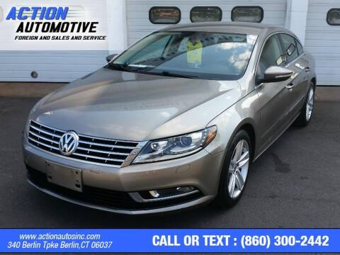 2013 Volkswagen CC for sale at Action Automotive Inc in Berlin CT